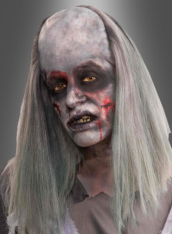 Passend zu Halloween: Die Zombie Perücke mit Halbglatze