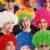 beliebte Karneval Perücke: Afroperuecke-clown-bunt