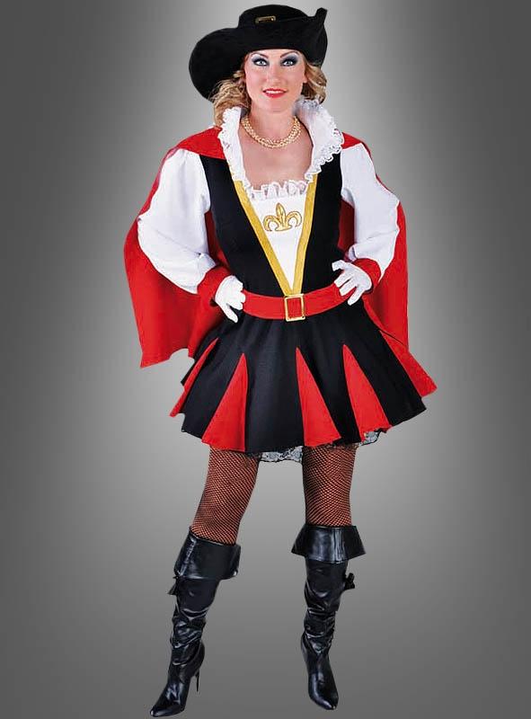  Musketier Kostüm Damen Henriette