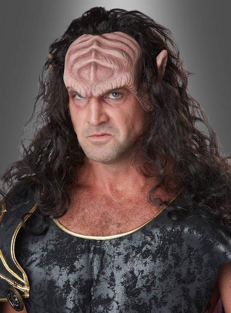 Fantasy Kriegsherr Stirnmaske mit Haaren